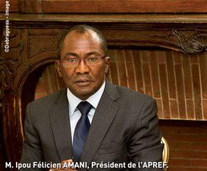 M. Ipou Félicien AMANI, Président de l'APREF, Directeur général de l'administration du territoire de Côte d'Ivoire